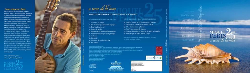 Veta Visual, disseny exterior del digipack o caixa del CD «A recer de la mar», Miquel Peris 25