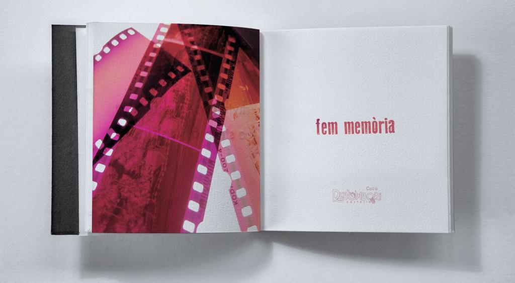 Veta Visual, primeres pàgines de «Fem memòria», llibre de la biblioteca Colla Rebombori 2012