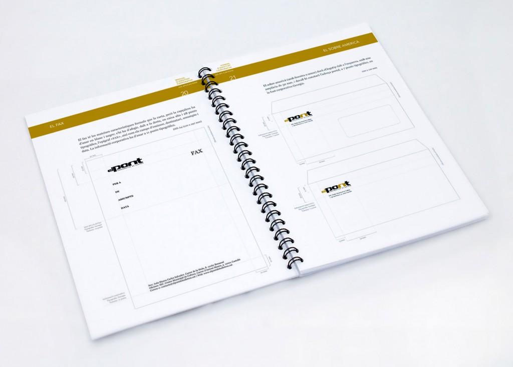 Veta Visual, pàgines del manual d'identitat corporativa El Pont Cooperativa de Lletres