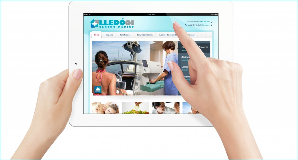 Veta Visual - Web Lledó61 en iPad