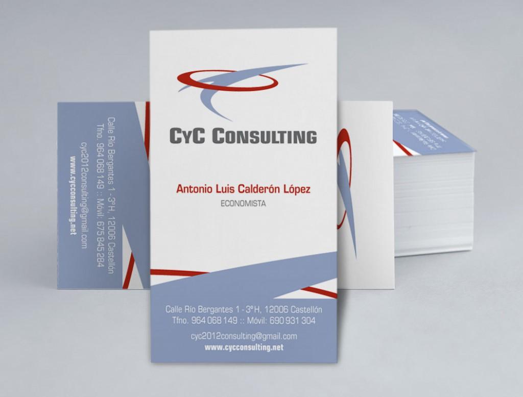 Veta Visual, targeta de visita del client CyC Consulting