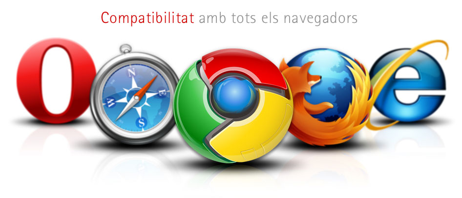 Veta Visual, webs compatibles amb tots els navegadors
