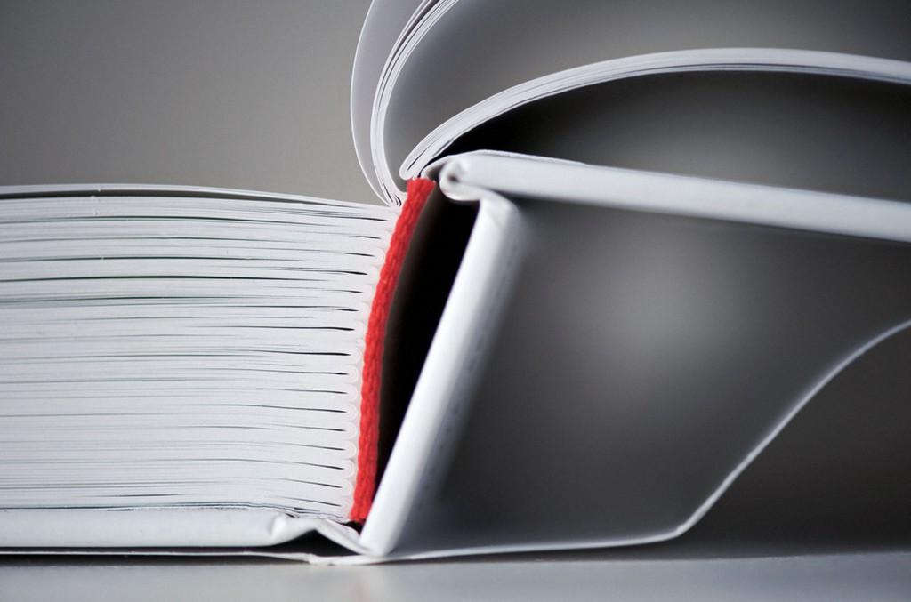 Veta Visual, veta vermella, disseny editorial, llom d'un llibre