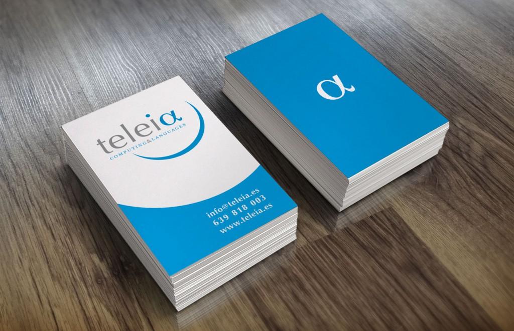 Veta Visual, targetes de visita de Teleia Computing & Languages