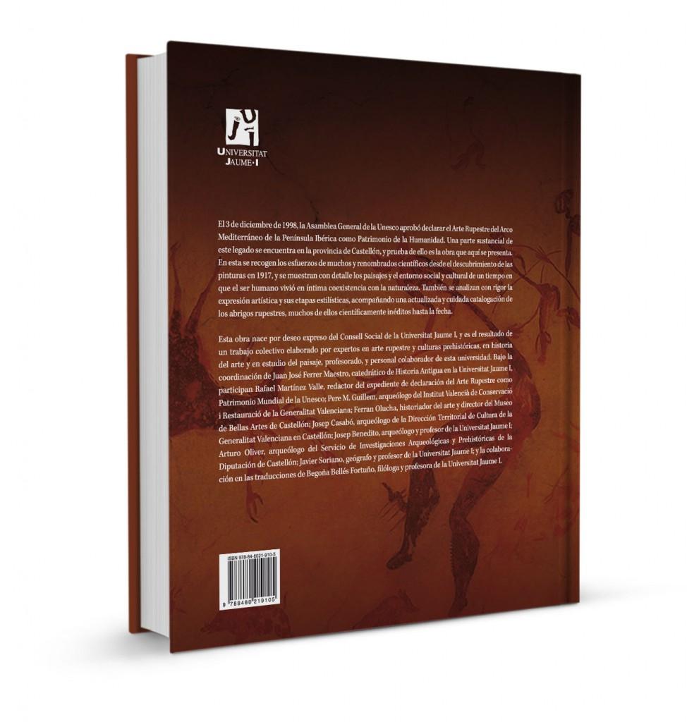 Veta Visual, contracoberta del llibre «El arte rupestre en la provincia de Castellón» (UJI)