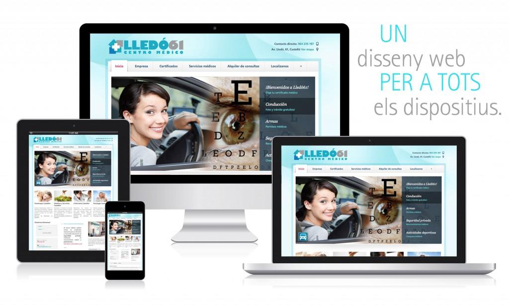 Veta Visual, disseny web de Lledó61 Centro Médico